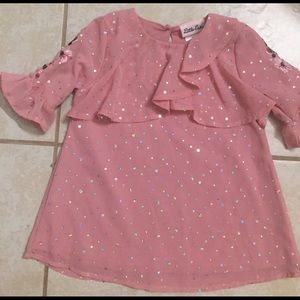 Toddler floral baby pink top size 3T